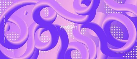 3D curved Fluid Wave Shapes Abstract Liquid Background. vector