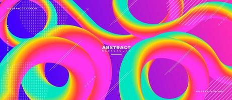 3D Swirl Fluid Wave Shape Abstract Liquid Background. vector