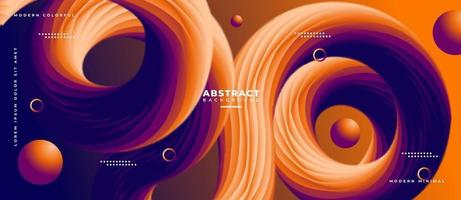 3D Sphere and Fluid Wave Shape Abstract Liquid Background. vector
