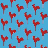 Seamless pattern cock lollipop vector