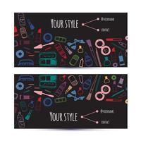 Makeup artist business card. vector