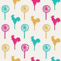 Seamless pattern cocks lollipops vector