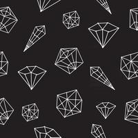 Seamless pattern vector crystal geometric