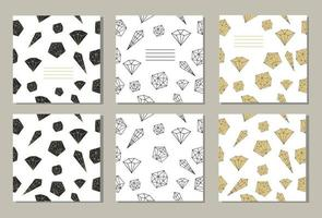 Set of 3 creative covers or universal cards vector