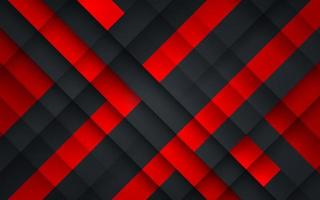 Abstract geometric pattern red and black background. Modern technology design. Vector illustration
