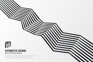 Abstract black and white zigzag line pattern design with copy space. Modern futuristic template. Vector illustration