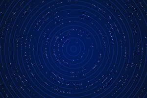 Abstract gradient blue technology circular line design pattern with glitter effect. Technology futuristic concept. Vector illustration