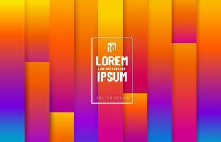 Abstract trendy colorful of vertical line pattern stripe level background. Modern yellow orange purple blue template. You can use for cover template, poster, banner web, flyer, Print ad. Vector illustration