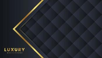 Luxury Dark Background with Golden line vector