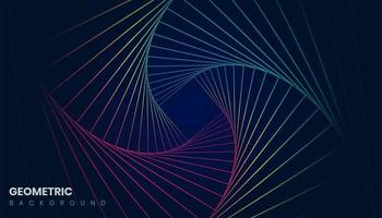 Geometric Background with Colorful Lines vector
