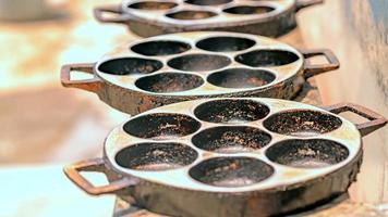 Old dirty bake molds photo