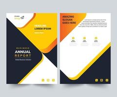 Annual Report Design Layout Template Corporate Business Flyer Template Modern Creative Trendy Design Report Cover vector