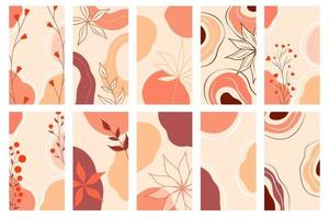 Collage templates for media frame vector