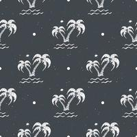 Seamless pattern background with hand drawn palm trees, summer seamless, background, vector illustration