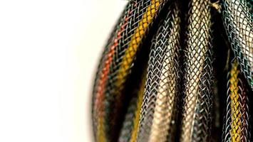 Power supply wire macro photography texture background photo