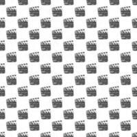 claqueta de patrones sin fisuras, boceto dibujado a mano vintage, industria del cine retro, ilustración vectorial vector
