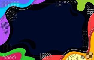 Colorful Stylish Flat Geometric Style Background vector