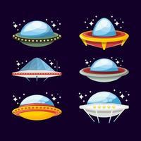 UFO Flat Icon Set vector