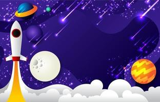 Modern Cute Space Background vector