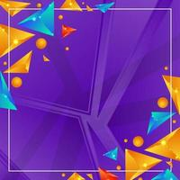 Abstract Colorful Geometric Triangle Shape vector