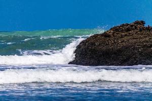 Pounding surf rolling into Bethels Beach. Auckland, New Zealand photo