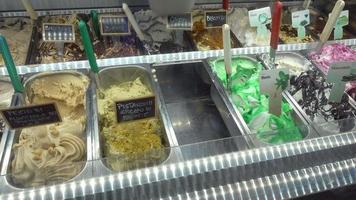 Eissorten toskana, italien, europa. video
