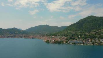luchtlandschap van gardameer italië video