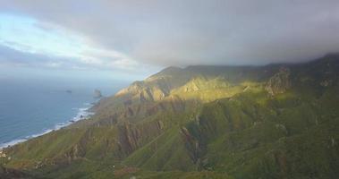 Aerial drone view of the coast coastline ocean sea in Tenerife, Spain. video