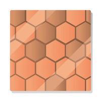hexagonal stone tiles seamless texture pattern vector