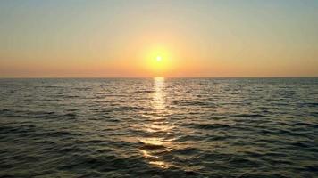 Beautiful Summer Sunrise over the sea video
