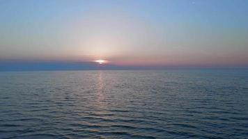 Summer Sea Sunrise with clouds anc calm waves video