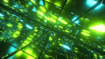 Green glass neon abstract looping animation video