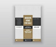 Real estate agency flayer template vector