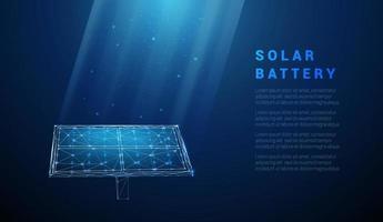 Abstract blue solar battery, solar panel, renewable energy vector