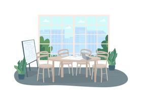 Conference office room 2D vector web banner