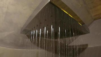 POV of a shower in the bathroom of a luxury hotel resort. video