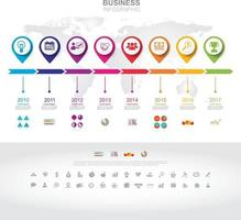 Infographic template. Timeline infographic Business success concept with graph. vector design. Elements of this image furnished by NASA no4