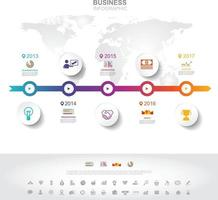 Infographic template. Timeline infographic Business success concept with graph. vector design. Elements of this image furnished by NASA no2