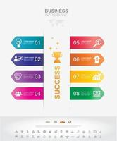 Infographic template. Timeline infographic Business success concept with graph. vector design. Elements of this image furnished by NASA no9