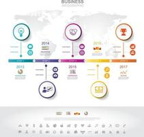 Infographic template. Timeline infographic Business success concept with graph. vector design. Elements of this image furnished by NASA