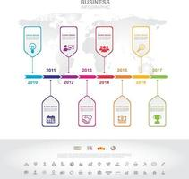 Infographic template. Timeline infographic Business success concept with graph. vector design. Elements of this image furnished by NASA no5