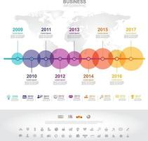 Infographic template. Timeline infographic Business success concept with graph. vector design. Elements of this image furnished by NASA no6