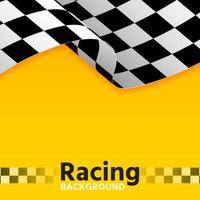 bandera amarilla de carreras vector