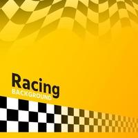 hermosa bandera amarilla de carreras vector