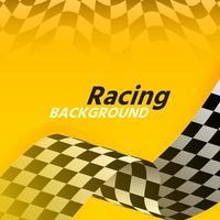 bandera de carreras amarilla hermosa abstracta vector