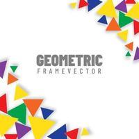 Colorful triangular geometry vector