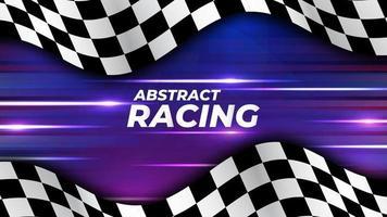 fondo de bandera de carreras de alta velocidad vector