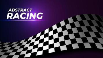 fondo de bandera de carreras vector