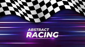 speed racing flag background vector