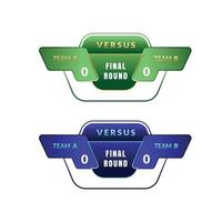 modern score board with team for game and sport vector